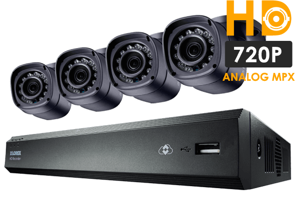 4-Camera Security System with 500GB Digital Video Recorder and 720p Resolution