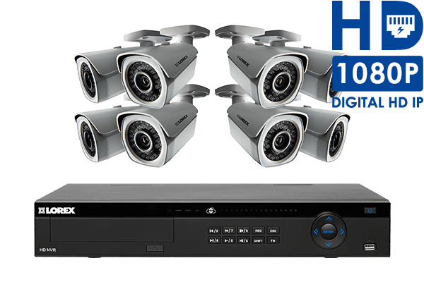 1080p Security Camera System with 16 Channel NVR with 8 HD cameras