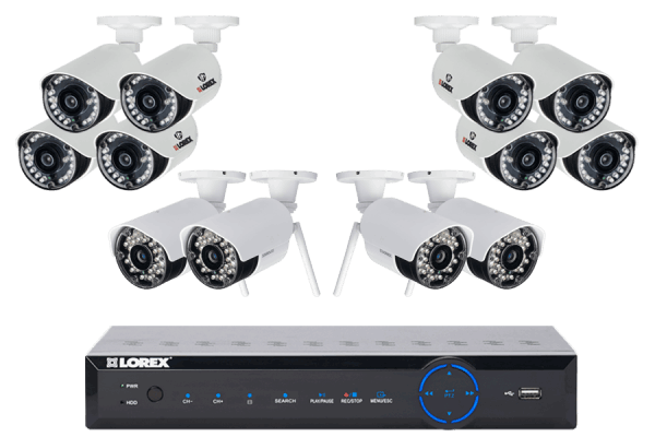 Security Surveillance Cameras with 75ft Night Vision