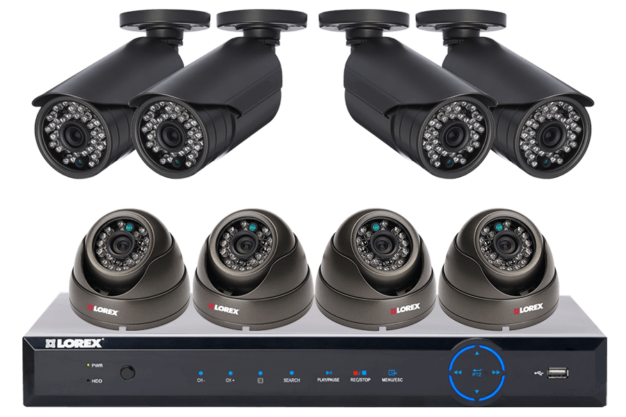 Discount Electronics On Sale Security DVR and 4 outdoor dome cameras with night vision
