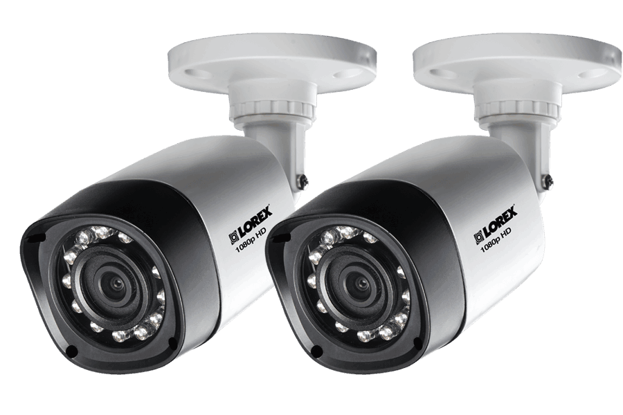 1080p HD Weatherproof Night Vision Security Cameras 2 Pack