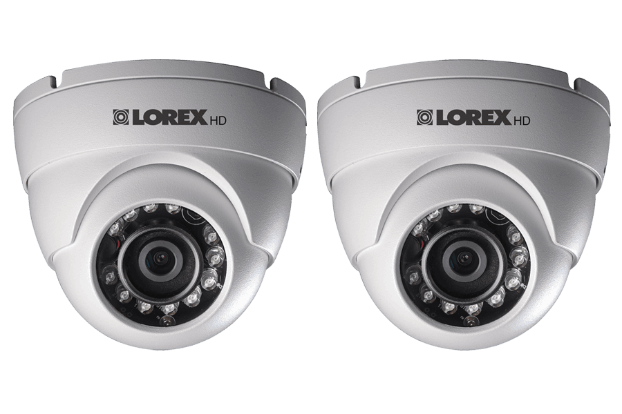 HD 1080p Weatherproof IR Dome Security Camera (2-Pack)