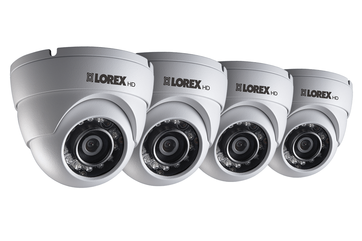 HD 1080p Weatherproof IR Dome Security Camera 4 Pack