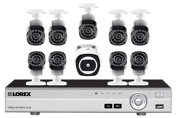 16 Channel HD Security System with Thermal Camera and 9 HD 1080p Cameras