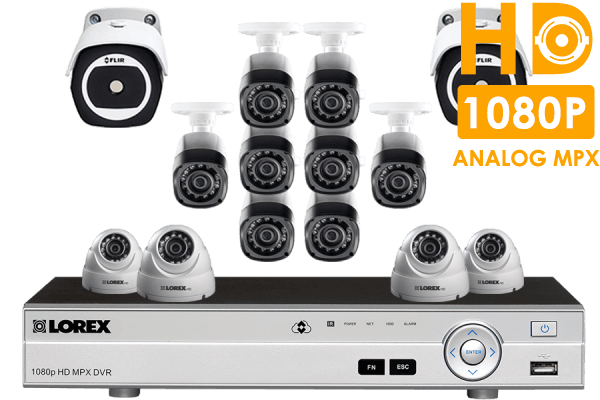16 Channel HD Security System with 2 Thermal Cameras and 12 HD 1080p Cameras