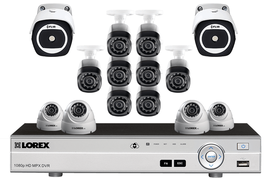 16 Channel HD Security System with 2 Thermal Cameras