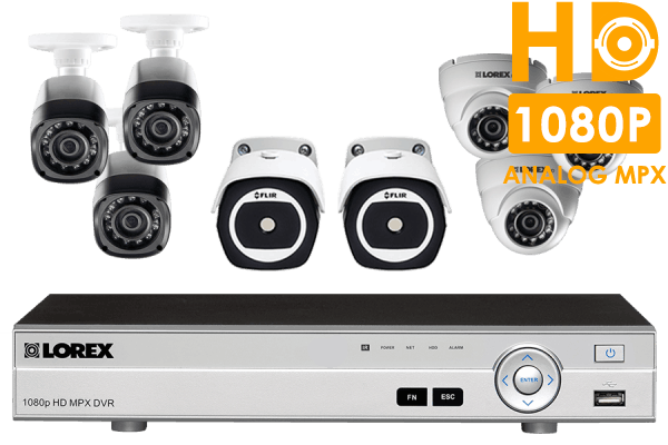 8 Channel HD Security System with 2 Thermal Cameras