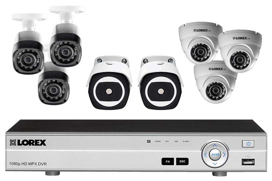 8 Channel HD Security System with 2 Thermal Cameras and 6 HD 1080p Cameras