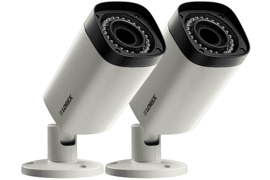 2K Indoor/Outdoor Security Cameras with Motorized Varifocal Lenses (2-Pack)