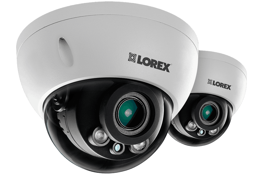 3 Megapixel Dome IP Cameras with Motorized Lenses 140ft night vision 2 Pack