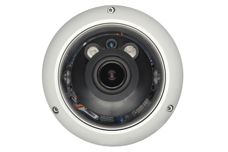Indoor/Outdoor Dome Security Cameras with Motorized Lenses (2-Pack)