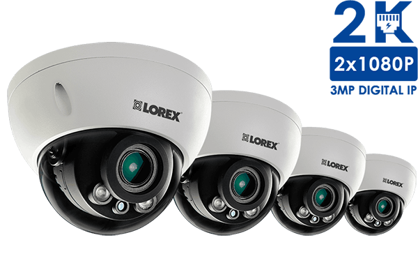 3 Megapixel Dome IP Cameras with Motorized Lenses, 140ft night ...