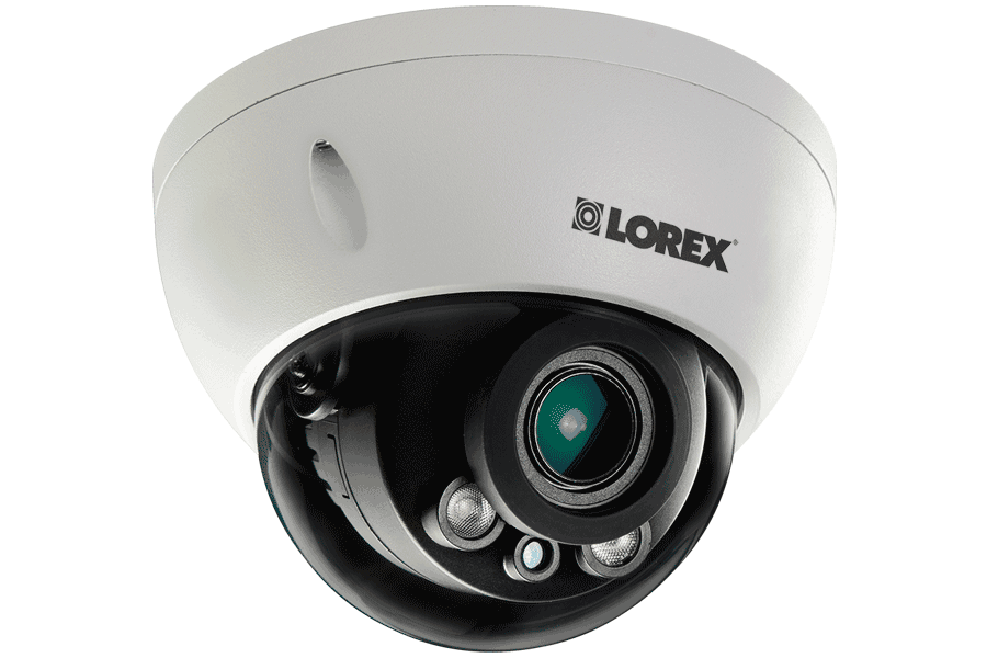 3 Megapixel Dome IP Camera with Motorized Lens 140ft night vision