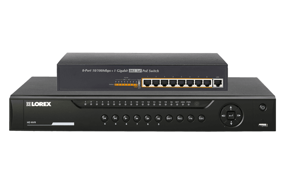 HD Security NVR 16CH with Real-time 1080p Recording and FLIR Cloud