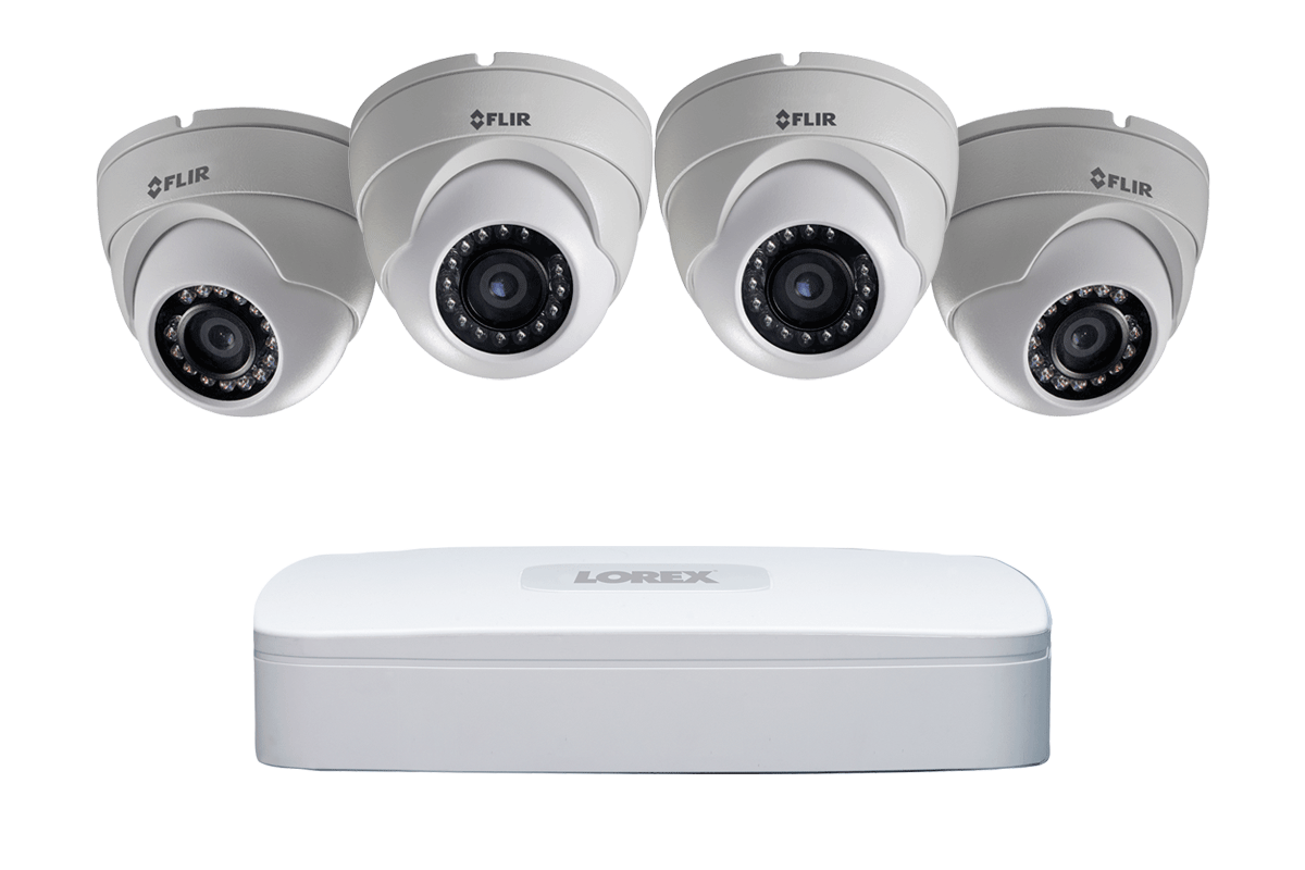 1080p High Definition IP security camera system with 4 channel NVR and 4 IP Cameras