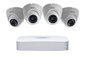 1080p High Definition IP Security Camera System with 4 Channel NVR ...
