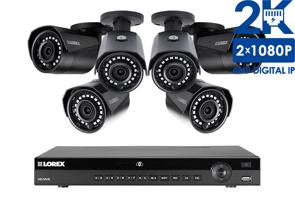2K IP Security Camera System with 8 Channel NVR and 6 Outdoor 2K ...