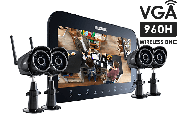 Home security camera system with 4 wireless cameras and 7inch ...