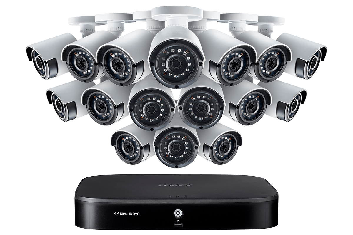LX1080-166BW, 1080p 16 Channel HD Security Camera System