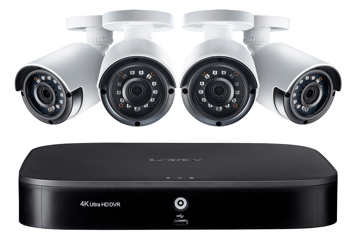 LX1080-44BW, 1080p 4 Channel HD Security Camera System