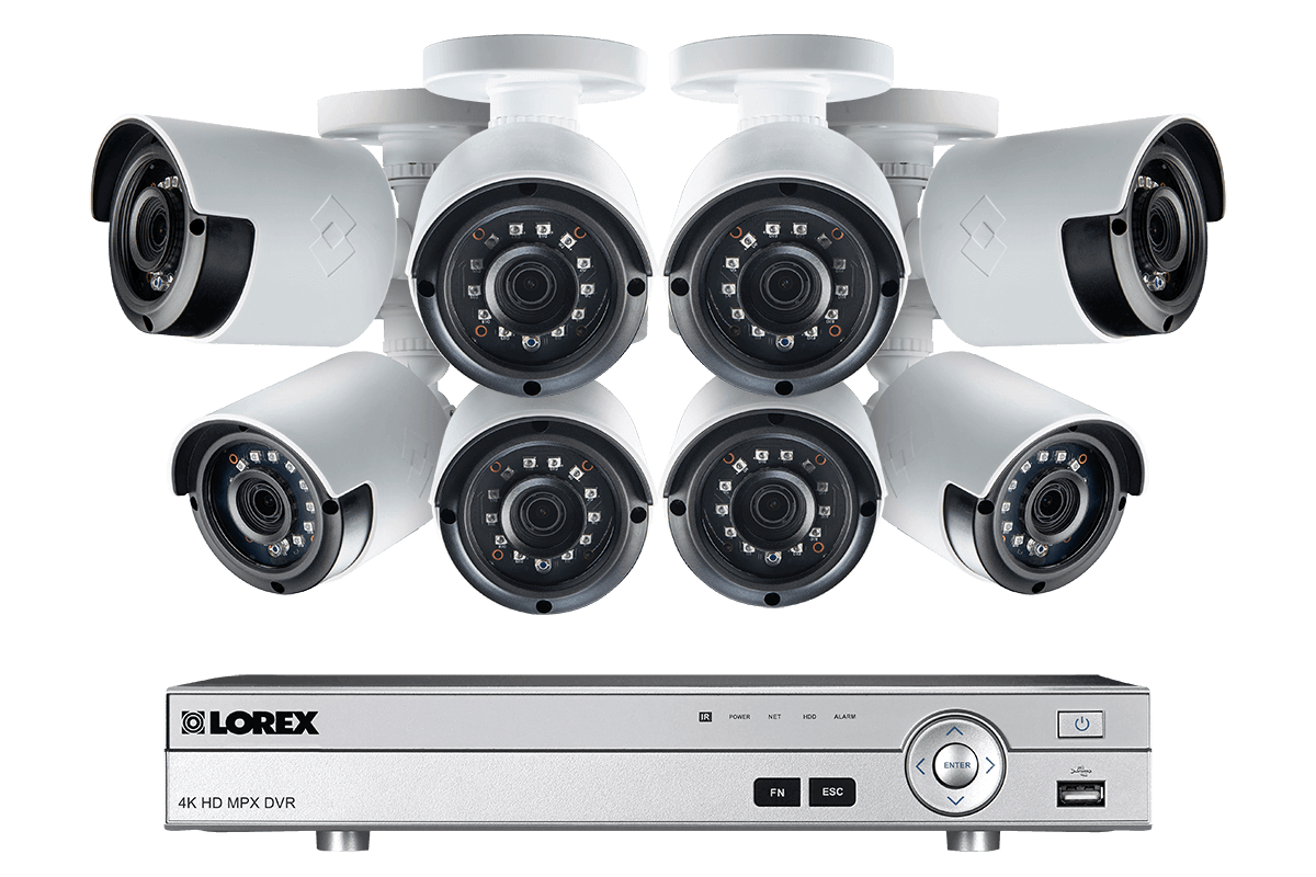 1080p Camera System with 8 Channel DVR and 8 1080p Outdoor Security  Cameras, 130ft Night Vision, 2TB Hard Drive