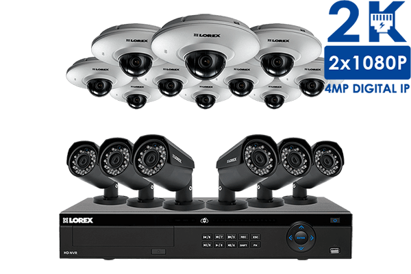 16 camera security system featuring pan tilt and night vision