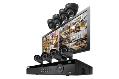 2K security system with 8 Color Night Vision IP cameras and monitor