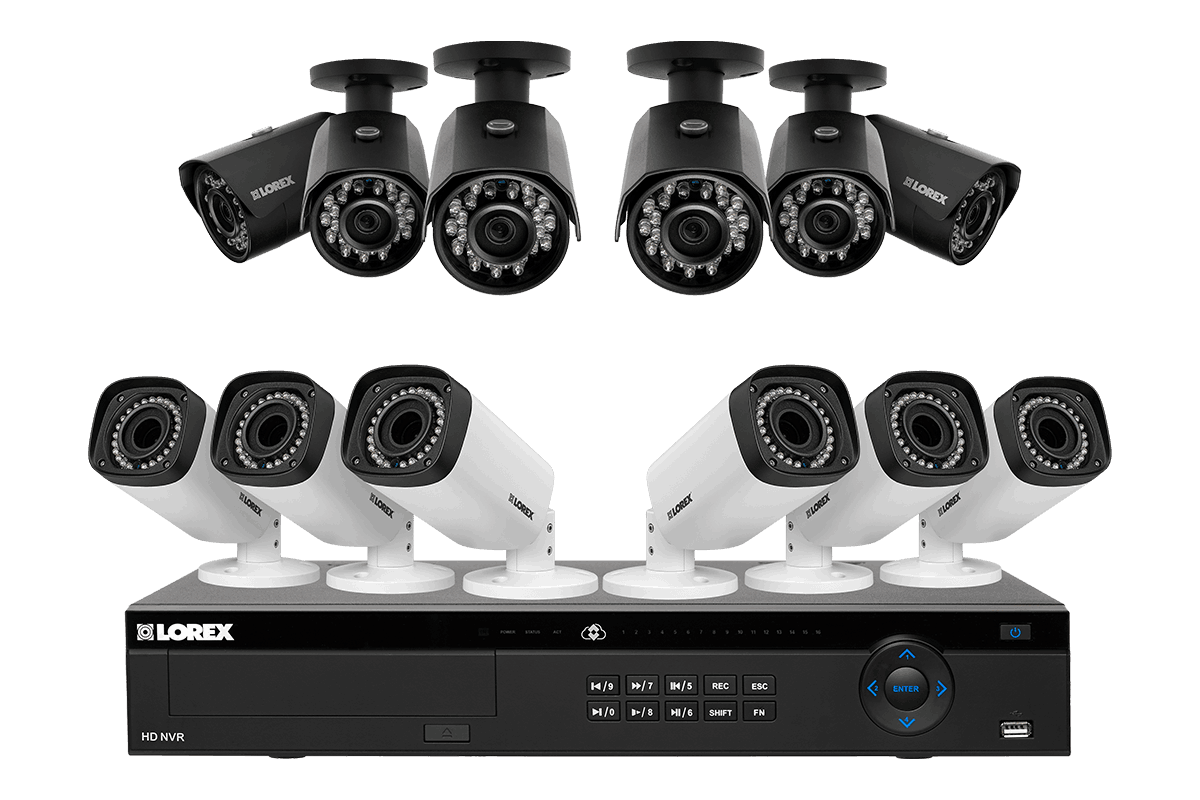 2K IP camera security system with 16 channel NVR