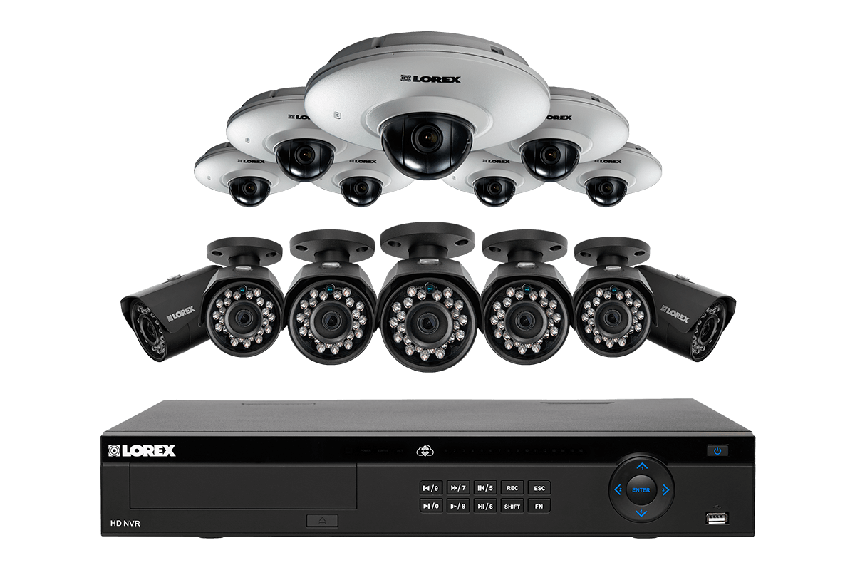 IP security system featuring 2K resolution and HD 1080p audio enabled cameras