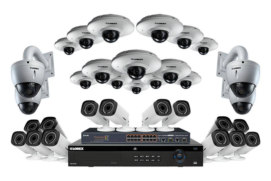 Powerful IP security camera System with 32 HD cameras 32 channel NVR 6TB hard drive