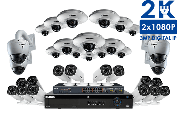 Powerful IP Security Camera System with 32 HD Cameras, 32 Channel ...