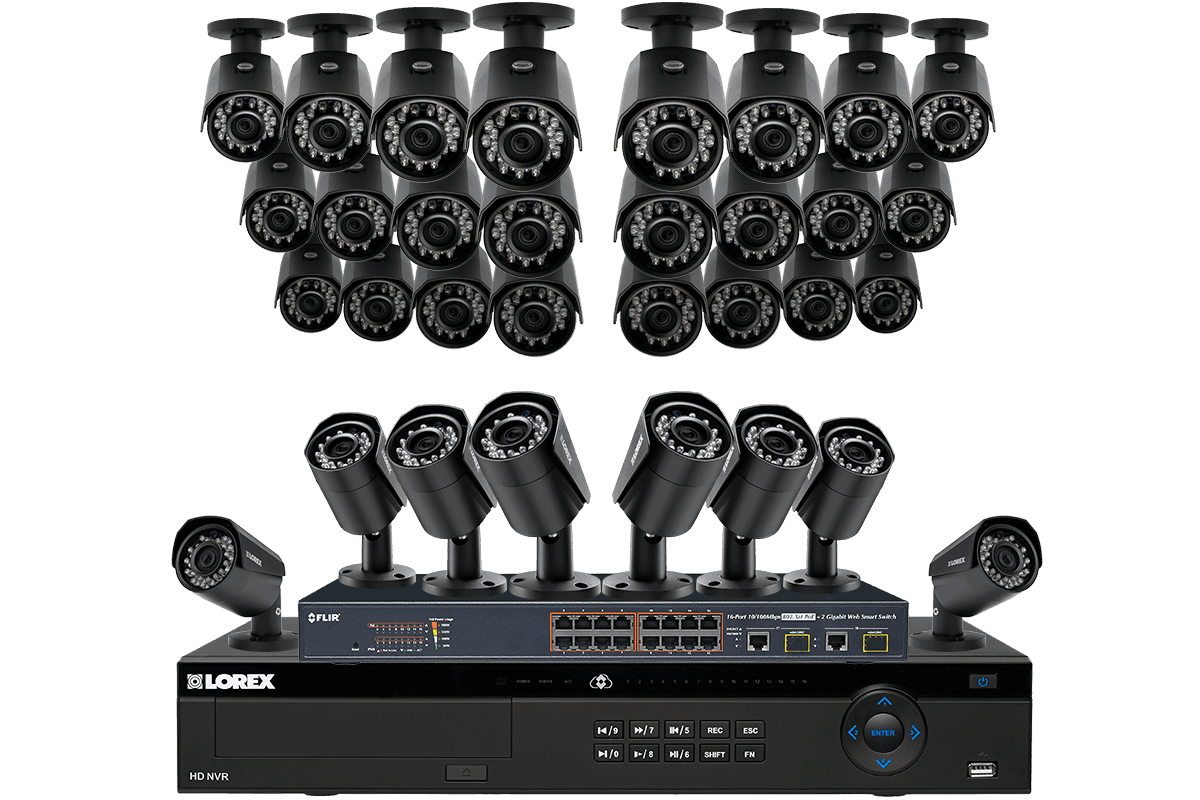 HD 1080p IP Camera Security System with 32 Cameras