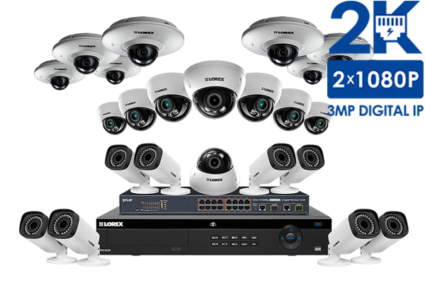 IP Security System with 8 PTZ 1080p IP Cameras and 12 Motorized ...