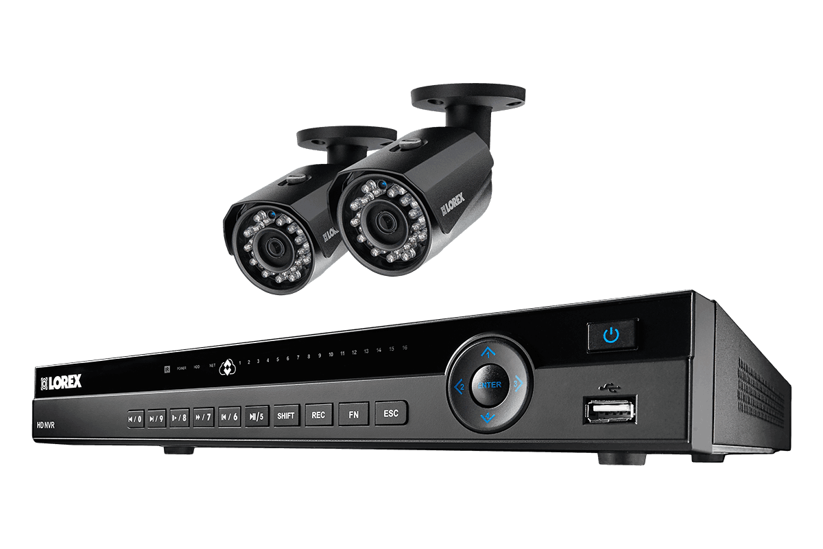 8 channel 2K resolution 4 megapixel IP camera system with 2 Color Night Vision security cameras