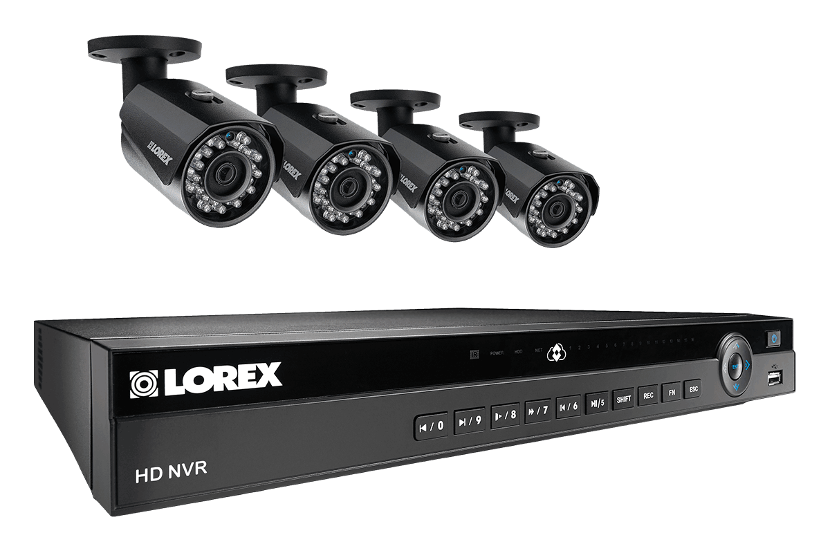 HD 1080p home security system with 4 HD IP cameras