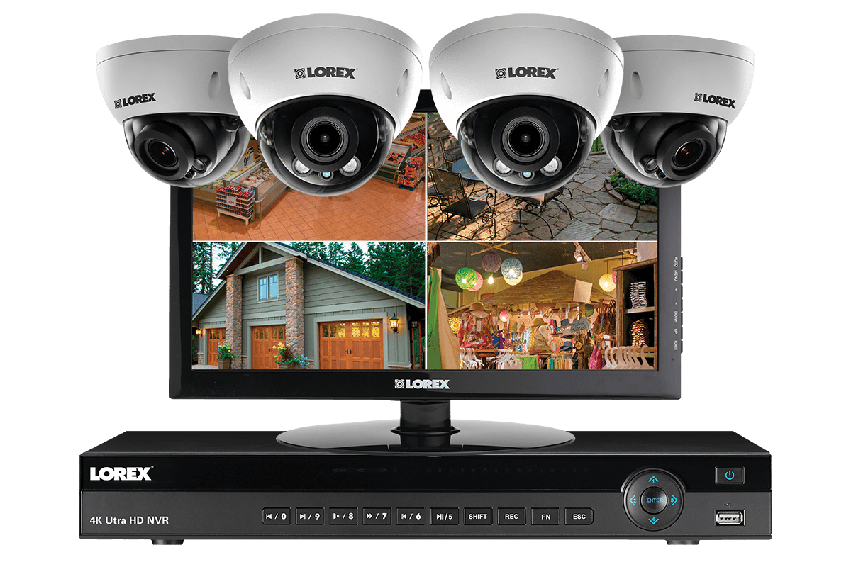 2K (4 Megapixel) Home Security System with 4 IP Cameras, 150ft Color ...