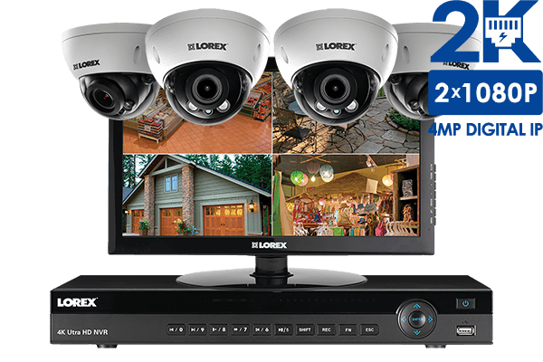 High definition IP camera home security system with monitor