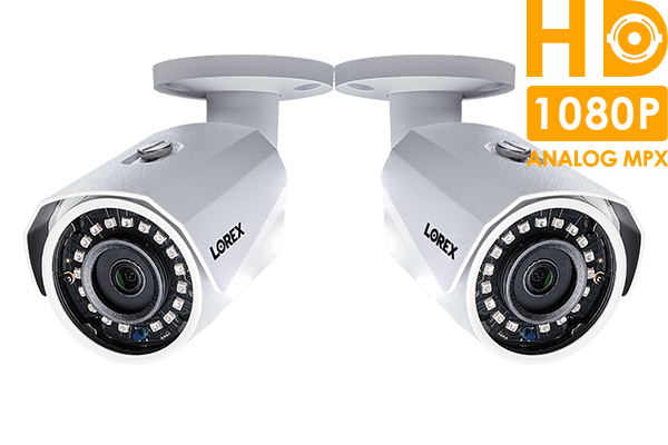 1080p HD weatherproof night vision security cameras (2-pack)