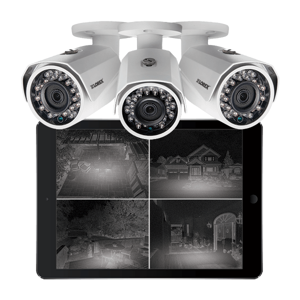 HD night vision bullet security cameras