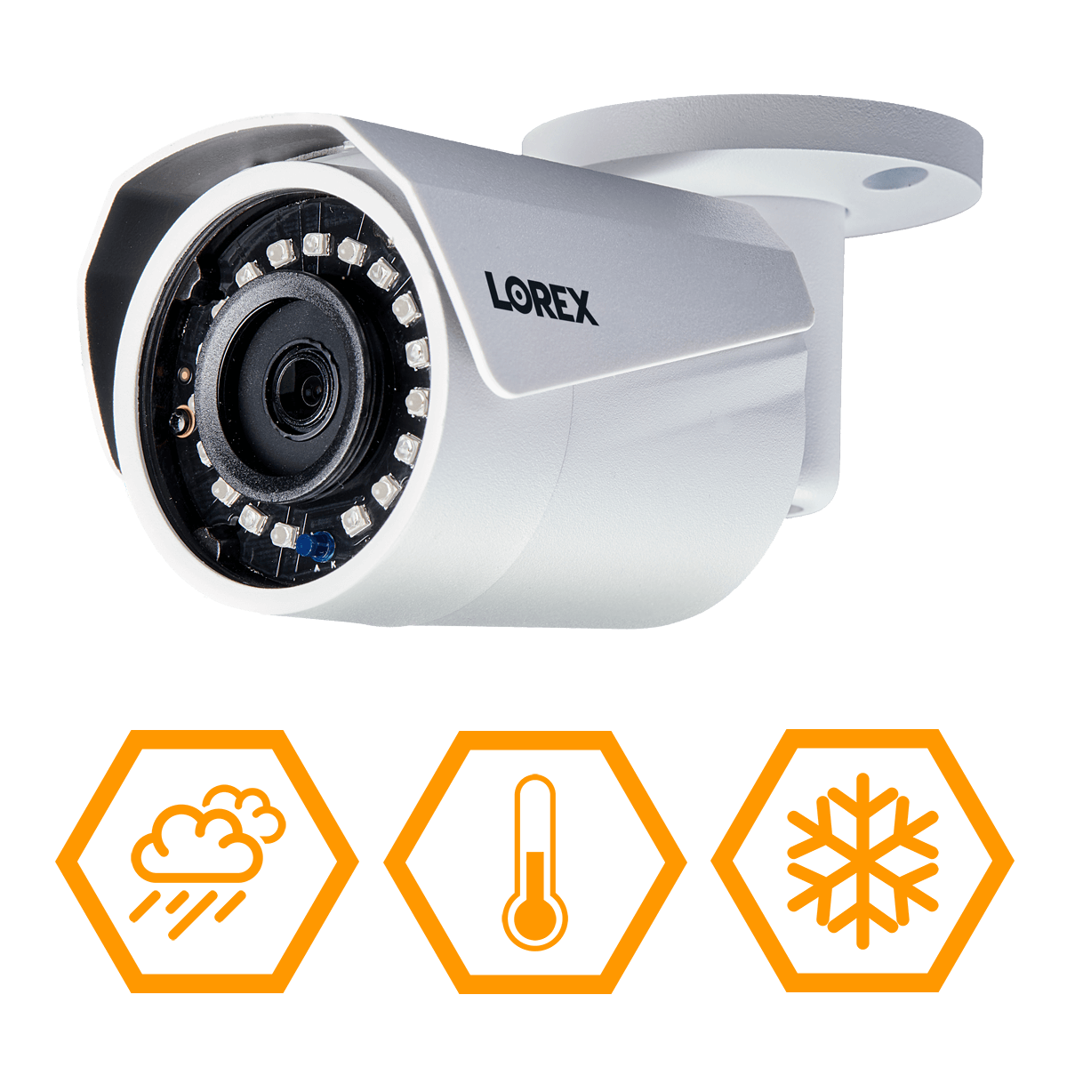 Wireless weatherproof and vandal-resistant security cameras