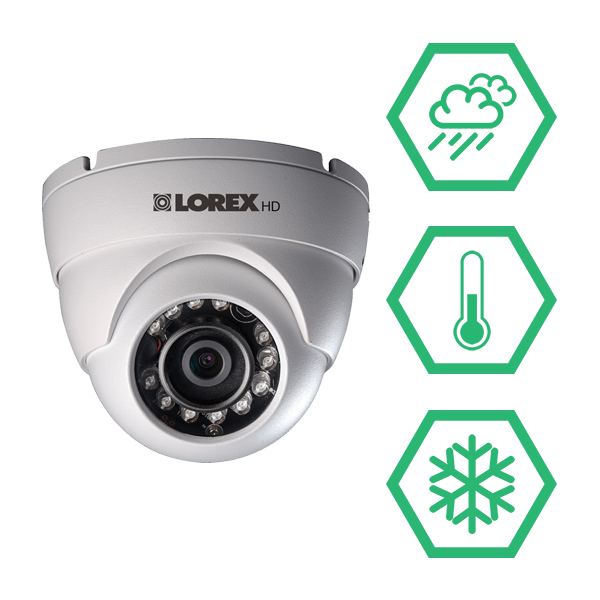 Extreme temperature performance weatherproof security cameras