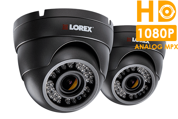 HD security cameras with motorized varifocal lenses (2-pack)