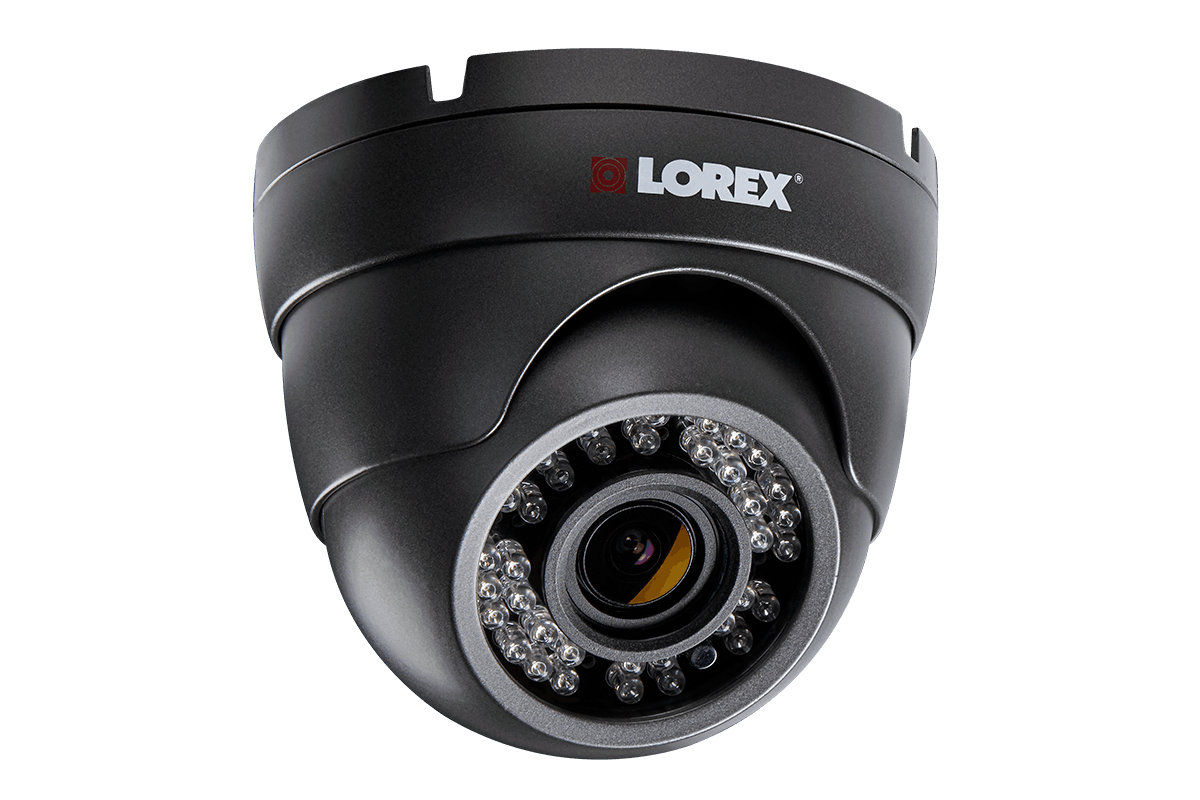 HD security camera with motorized varifocal lens