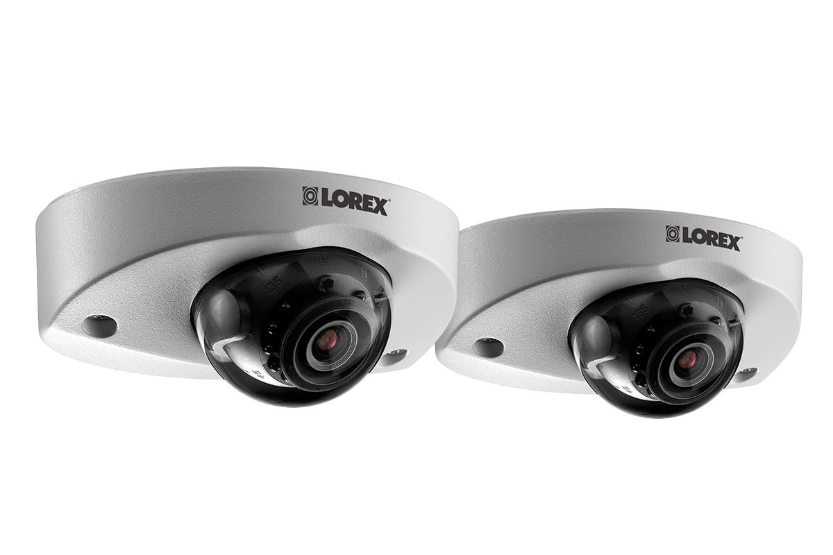 Audio-enabled HD 1080p dome security camera (2-pack)