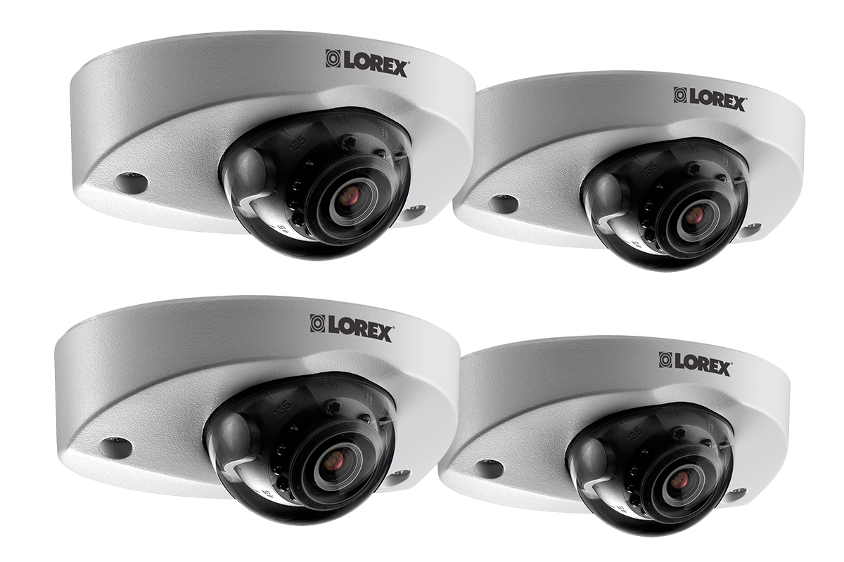 Audio-enabled HD 1080p dome security camera (4-pack)