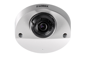 Audio-enabled HD 1080p dome security camera