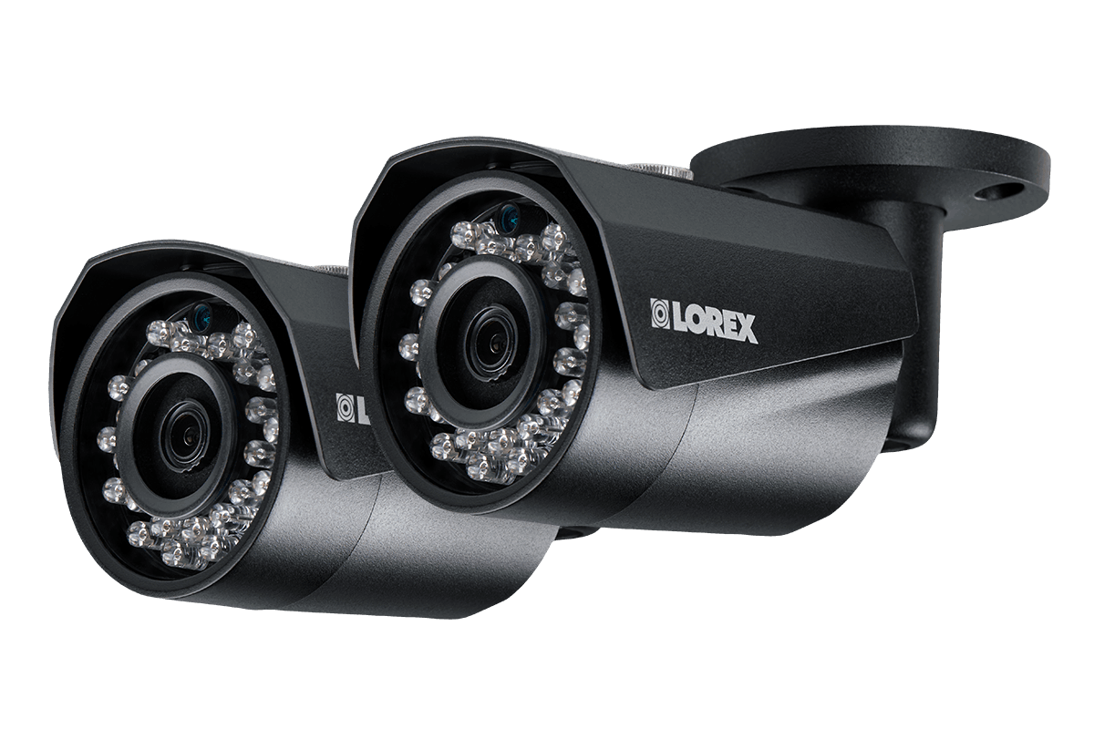 HD IP cameras with color night vision 2 pack