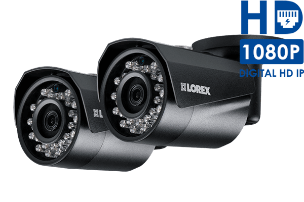 HD IP cameras with color night vision (2-pack)