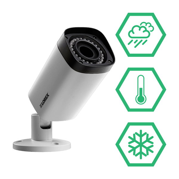 HD weatherproof and vandalproof (IK10) cameras