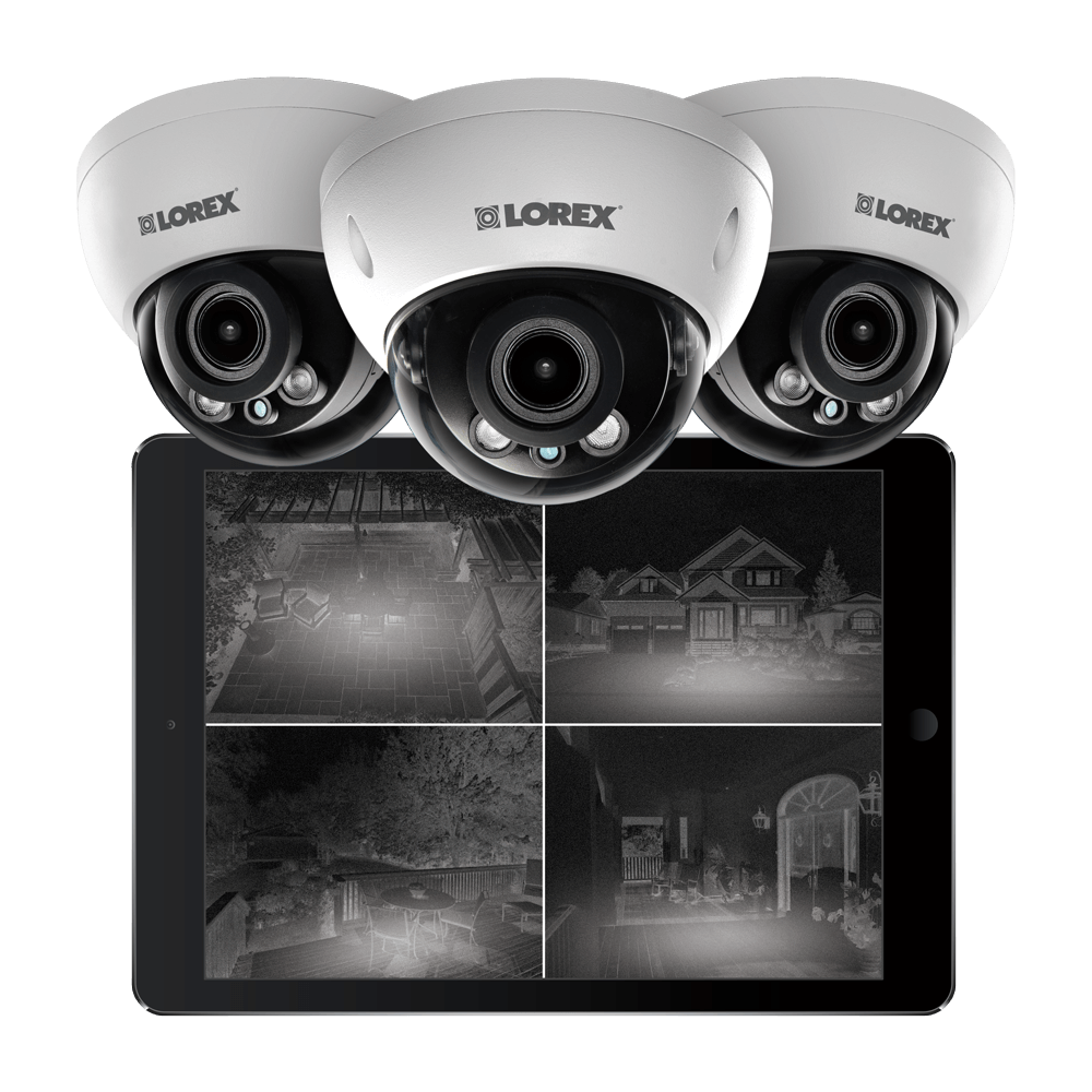 excellent 2K night vision dome IP cameras from Lorex